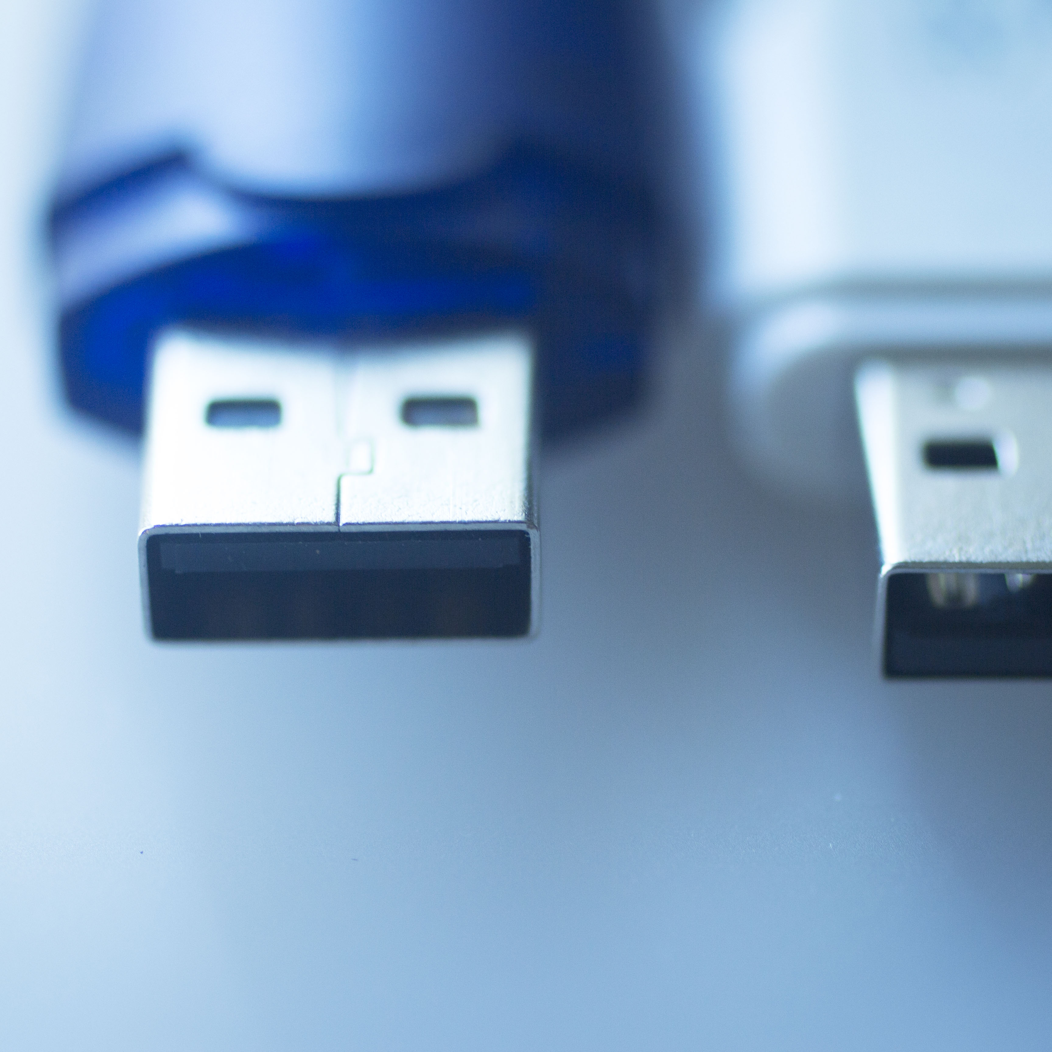 Two USB flash drives