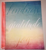 Kindness, Gratitude, Joy Journal (Board Covers, Spiral Bound w/Tangerine Spiral)