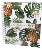 Undated 12-Month Planner  (Pineapple Hard Cover Wire O)