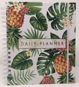 Undated Planner (Gold Foil Hard Cover w/Elastic Strap/Gold Corners)