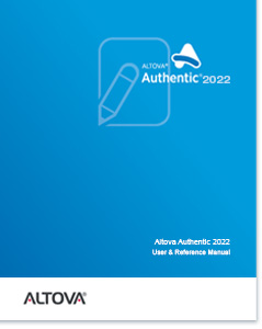 Altova Authentic 2020 Desktop Edition User & Reference Manual