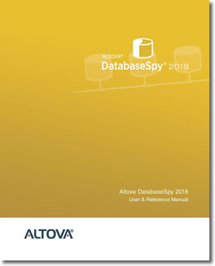 Altova DatabaseSpy 2018 User & Reference Manual