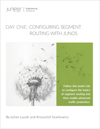 Day One: Configuring Segment Routing with Junos