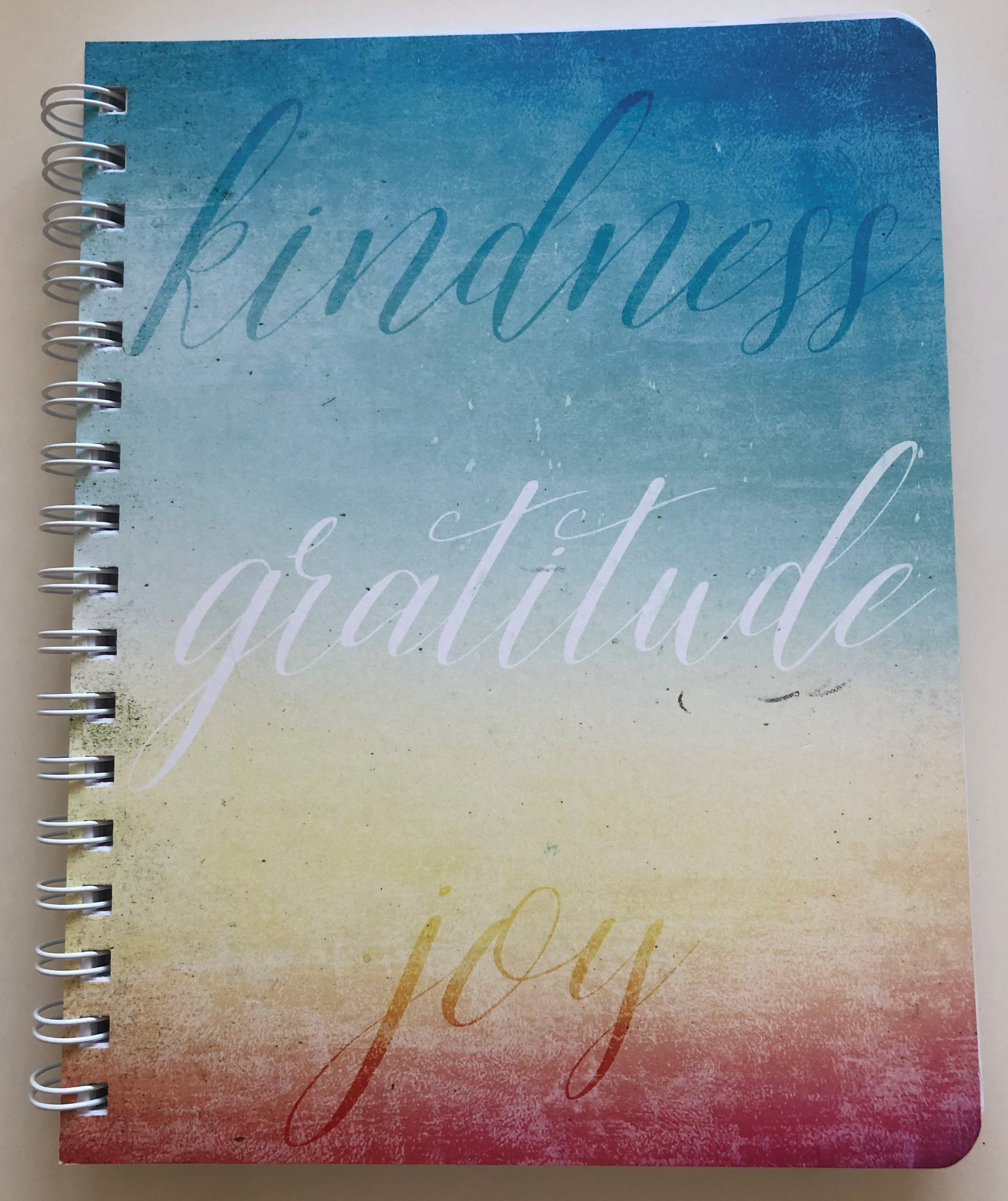 Kindness, Gratitude, Joy Journal (Board Covers, Wire-o, Round Corners)