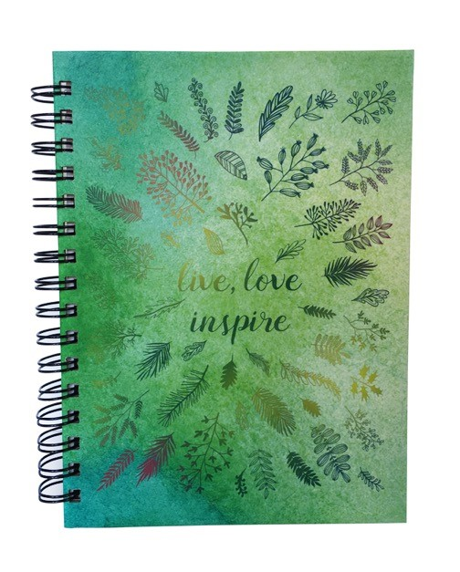 Live Love Inspire Wire-O Journal (Hard Cover)
